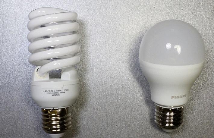 две лампы