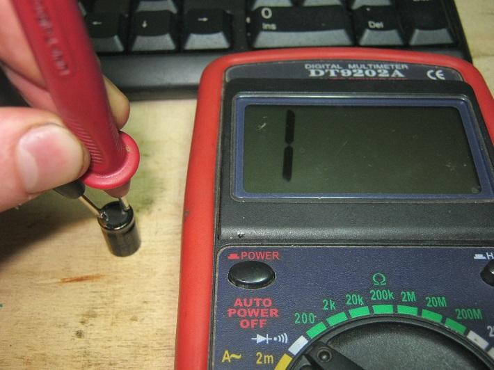 замер конденсатора