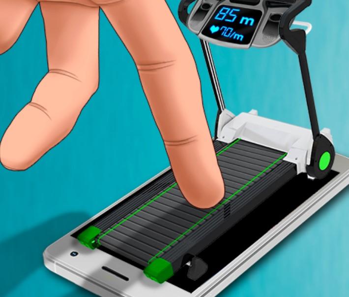 Treadmill finger workout